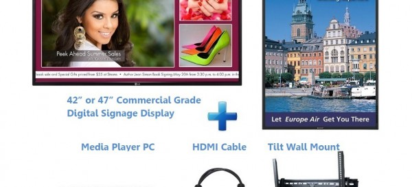 E Display Enterprise Digital Signage Package