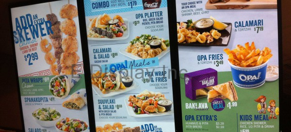 E Display Deploys Digital Menu Boards at OPA! Cochrane Town Centre, Cochrane in Alberta