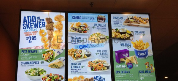 E Display Deploys Digital Menu Boards at OPA! Kenaston Boulevard in Winnipeg, Manitoba