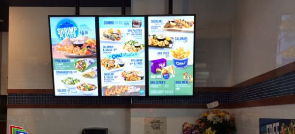 E Display Deploys Digital Menu Boards at OPA! Medicine Hat Hall in Medicine Hat, Alberta