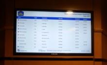 Flight Info Digital Signage Best Western