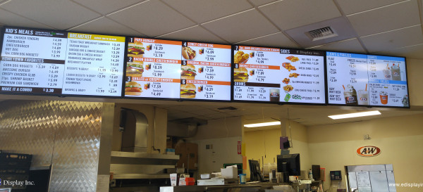 A&W Moscow Idaho - Digital Menu Boards